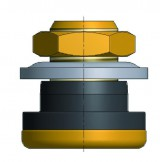 Воздушно-водяной  клапан с металлической опорой для отверстия клапана 16 мм S-4385-1
